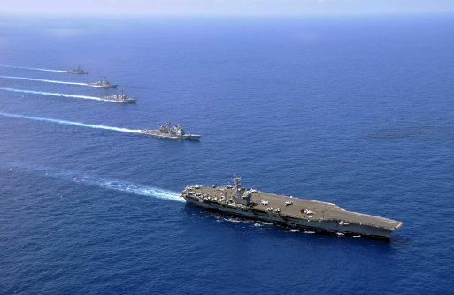 USS Nimitz Carrier Group Sails Into Red Sea