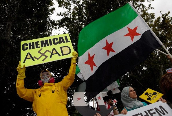 Protestors At US Capitol Call For Intervention In Syria