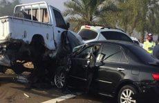 Six injured in 25 car pile-up on Al Ain-Abu Dhabi Road