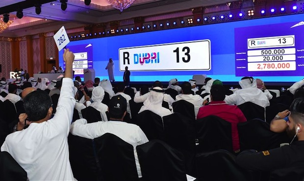 Dubai Car Number Plate R13 Sells For Dhs2 9m At Rta Auction Gulf