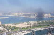 Fire breaks out at construction site on Dubai's Palm Jumeirah