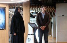 Robot receptionist starts work at Smart Dubai Office