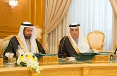 Previously detained Saudi minister seen at cabinet meeting