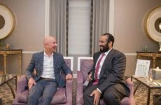 Saudi crown prince meets billionaires Bezos and Gates