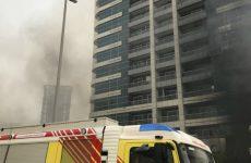 Dubai Marina tower catches fire