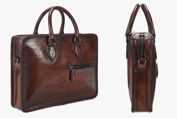 Berluti Un Jour Mini Leather Briefcase
