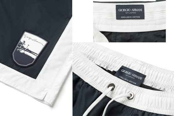 Exclusive editions and monogrammed beachwear by Giorgio Armani