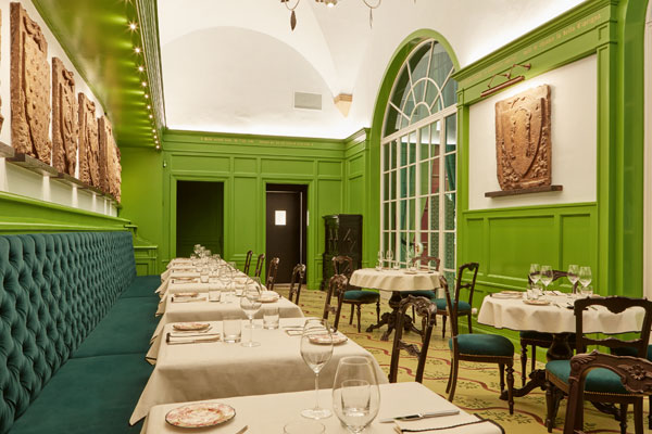 Gucci Osteria, the world's first Gucci restaurant, in the Gucci Garden