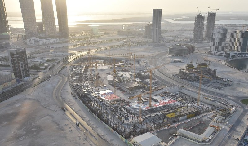 Work progresses on Abu Dhabi's $1 2bn Reem Mall featuring