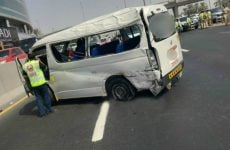 Two people killed and five injured in Dubai road accident caused by tyre explosion