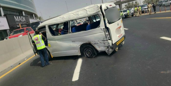 Two people killed and five injured in Dubai road accident