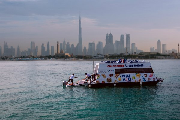 Carrefour Launches World S First Sailing Supermarket In Dubai
