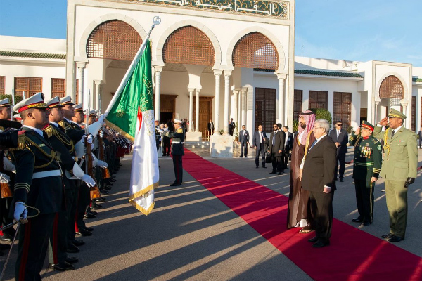 Saudi crown prince holds bilateral trade talks with Algeria