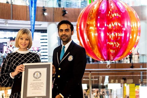 christmas bauble the dubai mall guinness world record