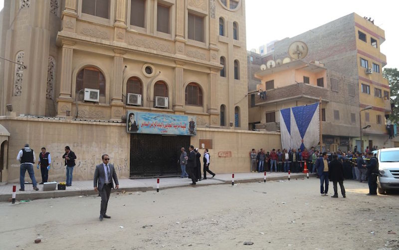 Egypt sentences two to death over church attack