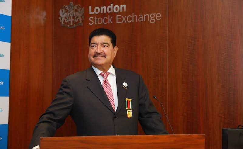 Dr B.R. Shetty, Founder and Co-Chairman of Finablr, at the London Stock Exchange[2] copy