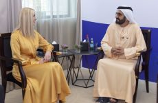 Video: Sheikh Mohammed receives Ivanka Trump at GWFD 2020