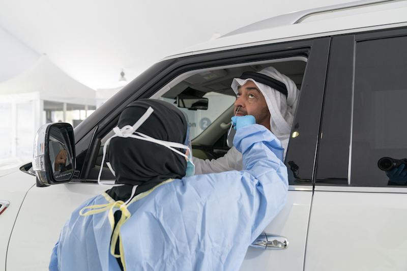UAE drive-through Covid-19 testing