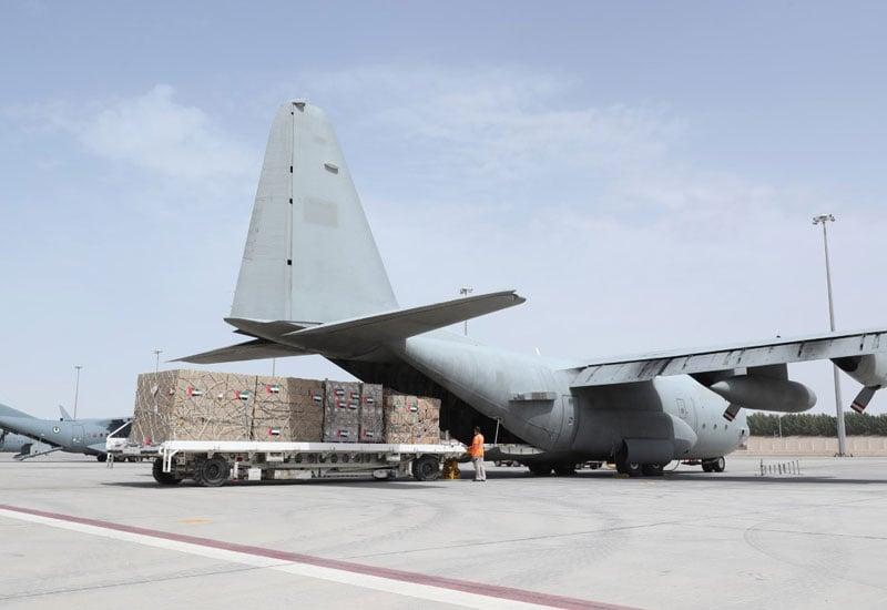 UAE aid plane to Iran