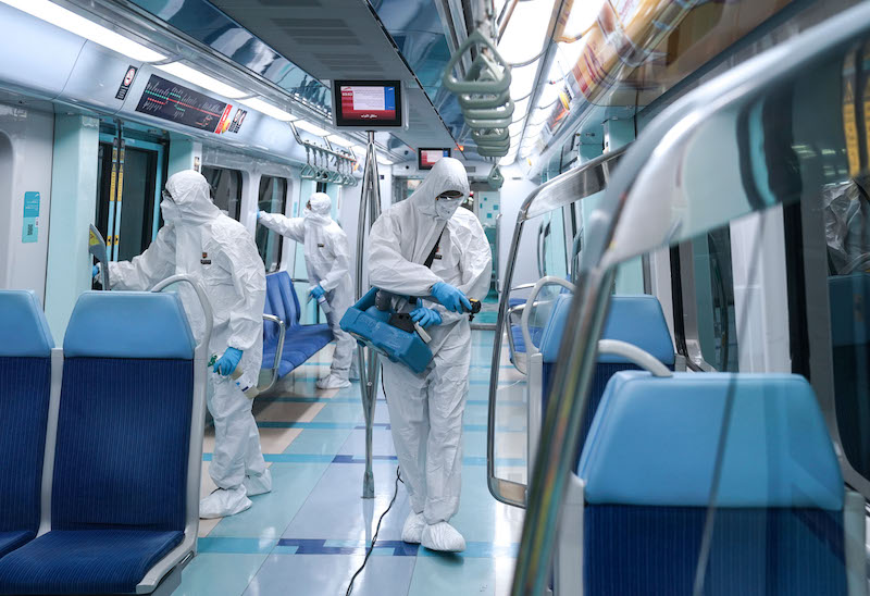 metro disinfection