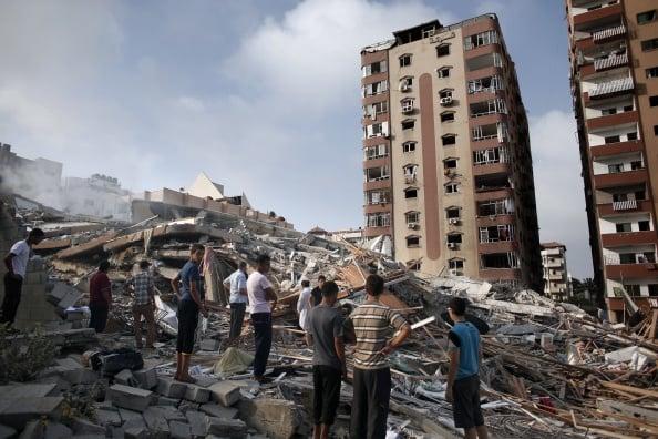 Netanyahu Warns Gaza Civilians After Israel Destroys 13-Storey Building