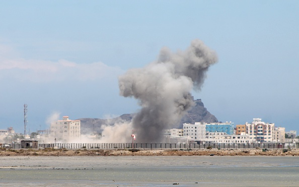 Saudi-led air strikes hit Yemen's Aden after truce expires
