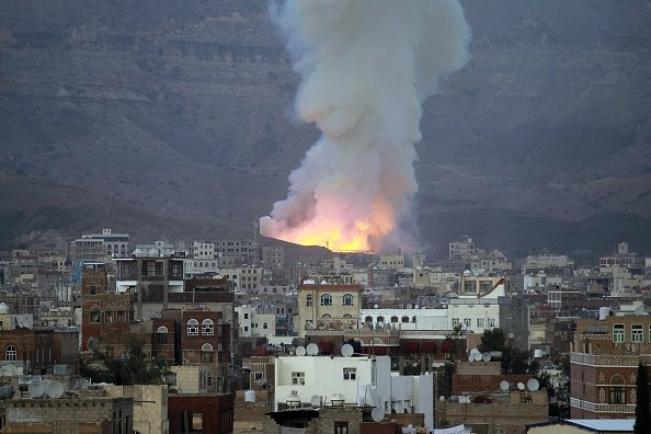 Saudi-Led Air Strikes Hit Yemen Capital Hours Before Ceasefire