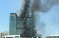 Video: Fire breaks out at 28-storey building in Abu Dhabi