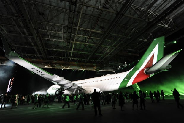 Etihad-backed Alitalia unveils new cabins, services and livery