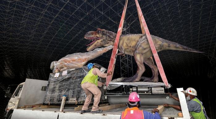 Dubai's IMG theme park installs 69 dinosaurs, set for 2016 opening