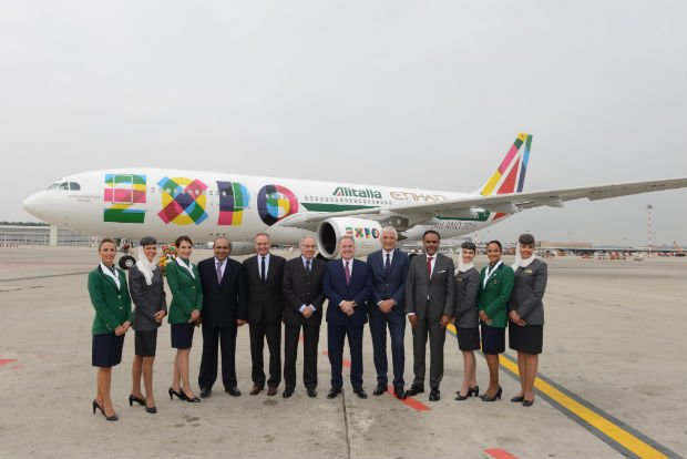 Etihad, Alitalia Unveil New Aircraft For Expo 2015