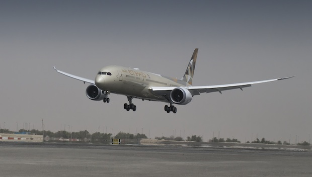 Etihad launches 787 Dreamliner to Shanghai