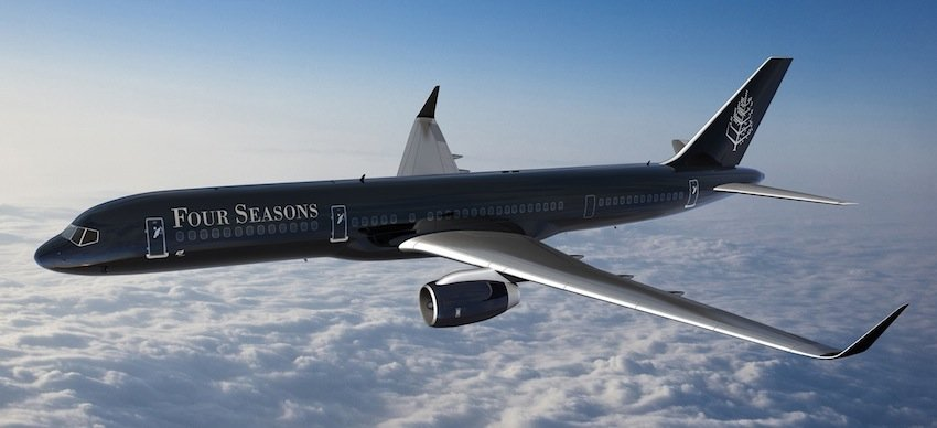 Four Seasons Unveils Branded Jet