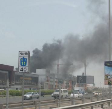 Fire breaks out at Dubai construction site