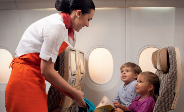 Etihad Launches New In-Flight Child Care Programme