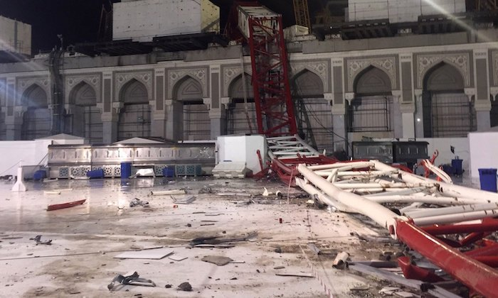 Video: At least 107 killed by falling crane at Grand Mosque in Mecca