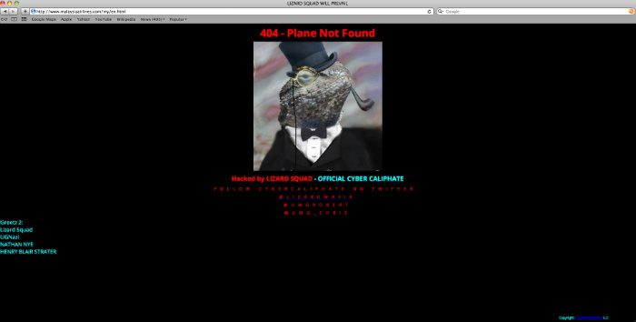 """Malaysia Airlines Website Targeted By Hacker Group """"Cyber Caliphate"""""""