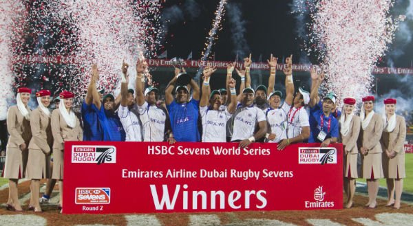 Samoa Win The Emirates Airline Dubai Rugby Sevens