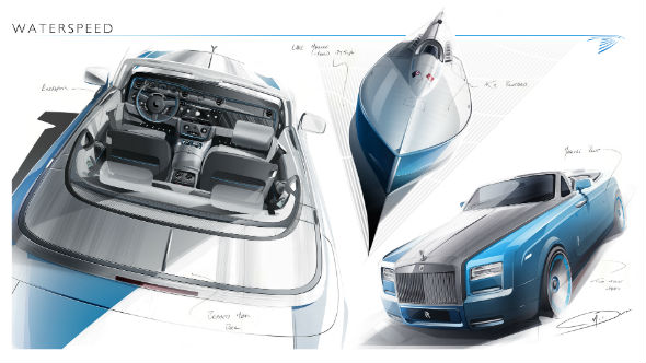 Rolls-Royce Reveals Bespoke Waterspeed Collection Sketch