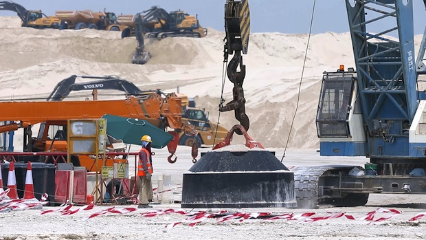 Video: Work progressing on Saadiyat Lagoons project in Abu Dhabi