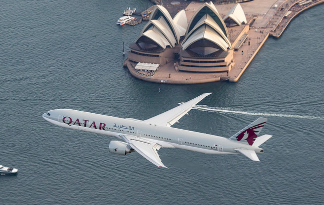 Qatar Airways' first Sydney flight arrives in Doha