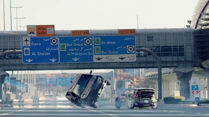 Watch: Video of daredevil rally driver Ken Block's stunts in Dubai goes viral