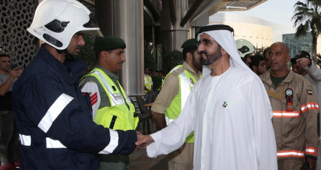Dubai's ruler commends role of emergency services after hotel fire