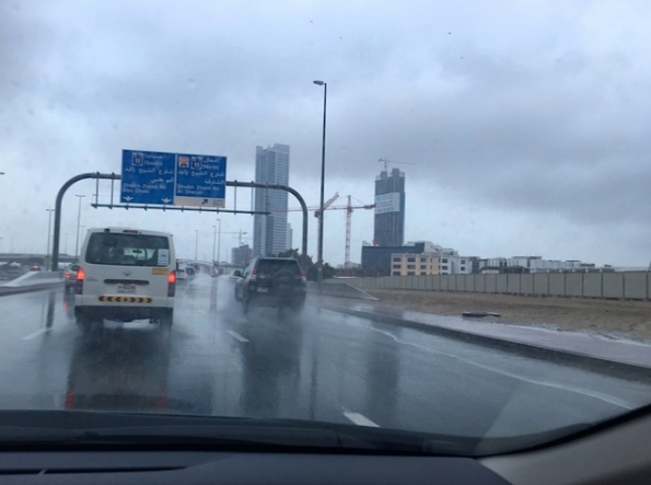 Dubai police records 147 traffic accidents in four hours due to rain
