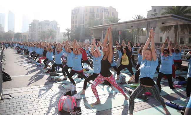 Thousands join Bollywood's Shilpa Shetty at XYoga Dubai