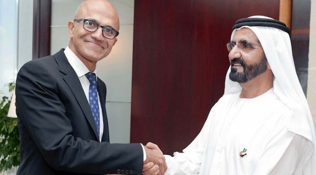 Dubai's ruler meets Microsoft CEO Nadella, discusses smart city plans