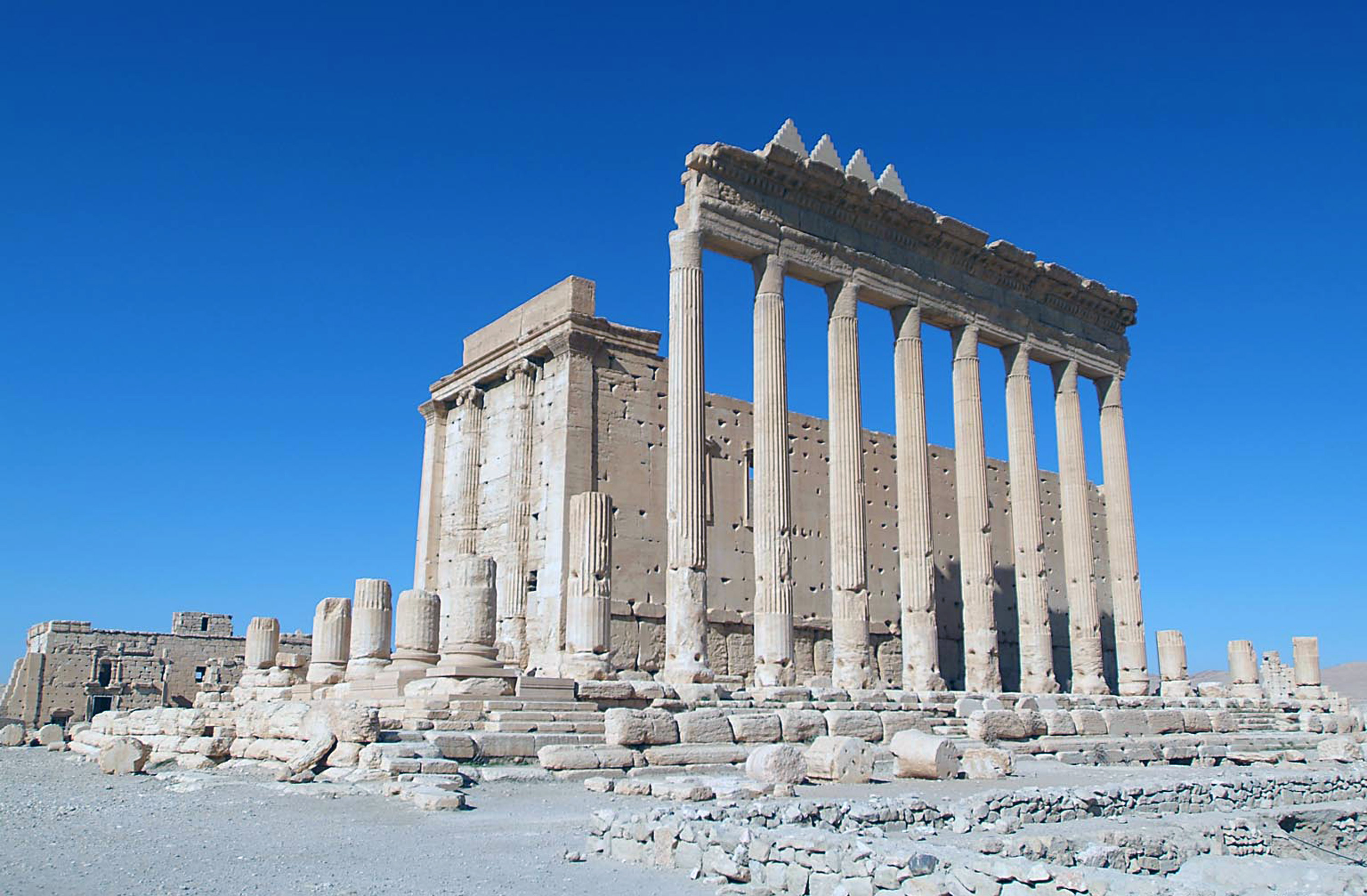 Satellite images show Islamic State destroyed major temple at Palmyra – UN