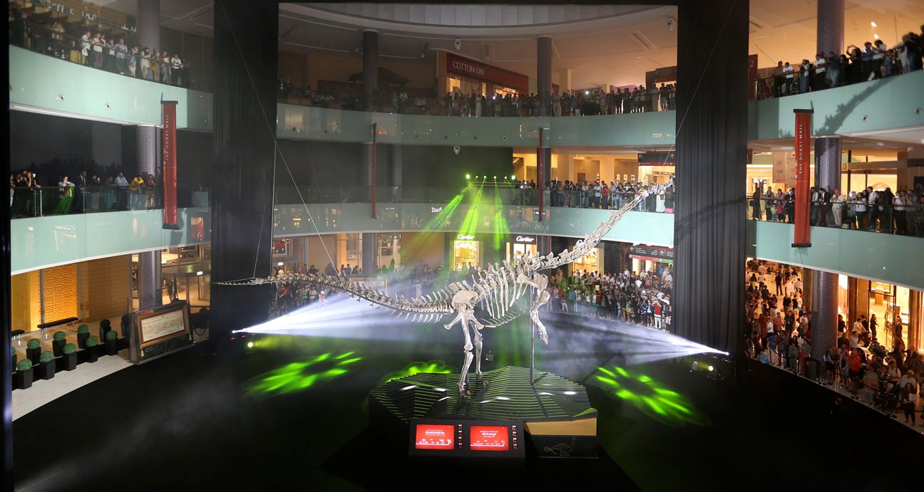 Dubai Mall Displays 155 Million Year-Old Dinosaur