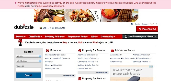 Online marketplace dubizzle UAE faces security breach