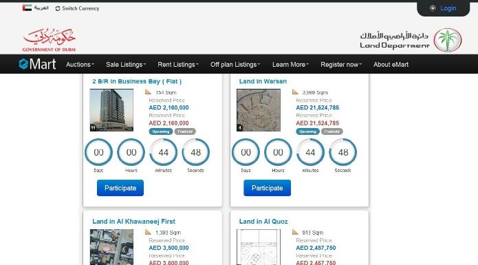 Dubai's Official Property Site To Auction Units Worth Dhs190m
